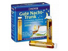 HOYER Gute Nacht Trunk Trinkampullen Bio alc 15 vol