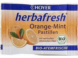 HOYER Orange Mint Pastillen Herbafresh Bio