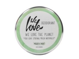 WE LOVE THE PLANET Natuerliche Deodorant Creme Mighty Mint