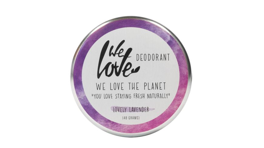 WE LOVE THE PLANET Natuerliche Deodorant Creme Lovely Lavender