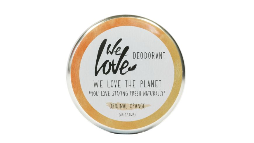 WE LOVE THE PLANET Natuerliche Deodorant Creme Original Orange