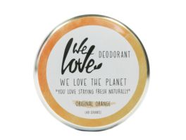 WE LOVE THE PLANET Natuerliche Deodorant Creme Original Orange