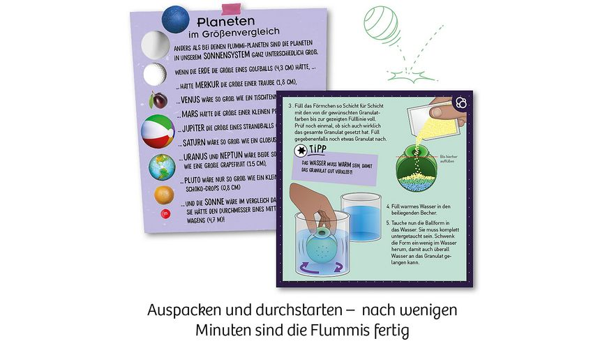 KOSMOS Experimentierkasten Flummi Planeten