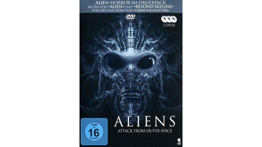 Aliens Attack from Outer Space 3 Movie Box 3 DVDs
