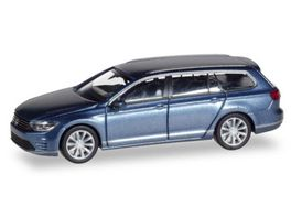Herpa 038980 VW Passat Variant GTE E Hybrid havardblue metallic