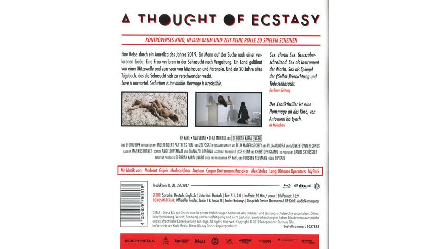 A Thought of Ecstasy Uncut