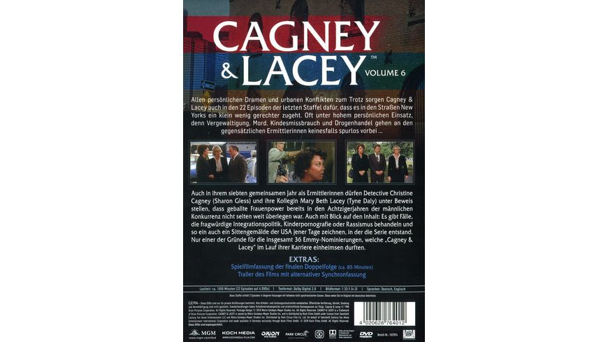 Cagney Lacey Volume 6 6 DVDs