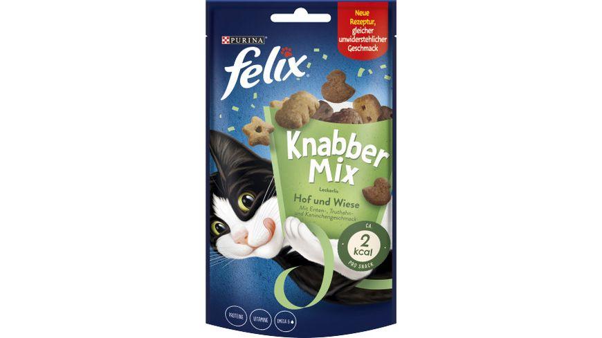 felix Katzensnacks KnabberMix Hof Wiese mit Enten Truthahn und Kaninchengeschmack