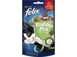 felix Katzensnacks KnabberMix Hof Wiese mit Enten Truthahn und Kaninchengeschmack 60 g Beutel