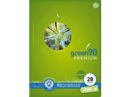 Ursus Green Collegeblock Premium A4 3er Pack Lineatur 28
