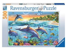 Ravensburger Puzzle Bucht der Delfine 500 Teile