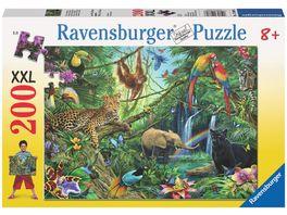 Ravensburger Puzzle Tiere im Dschungel 200 Teile