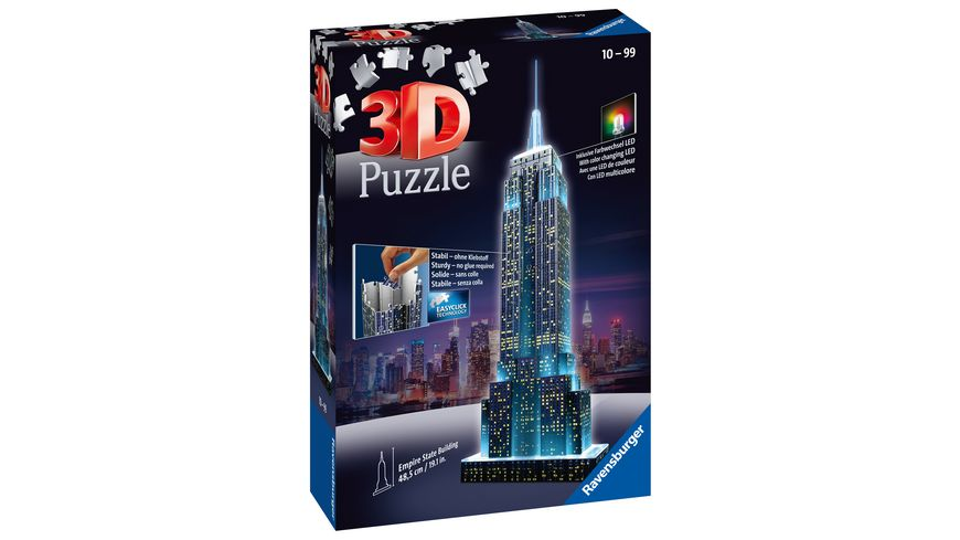 3D Puzzles Puzzle 3D Ravensburger 12566 Empire State Building Da 12 Jahre