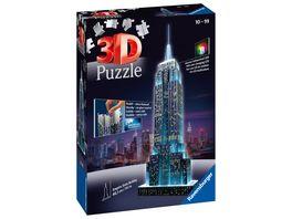 Ravensburger Puzzle 3D Vision Puzzle Empire State Building bei Nacht 216 Teile