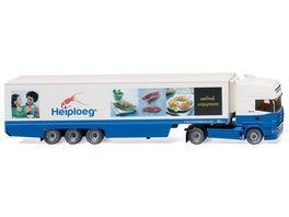 Wiking Kuehlkoffersattelzug Scania R420 Topline Heiploeg