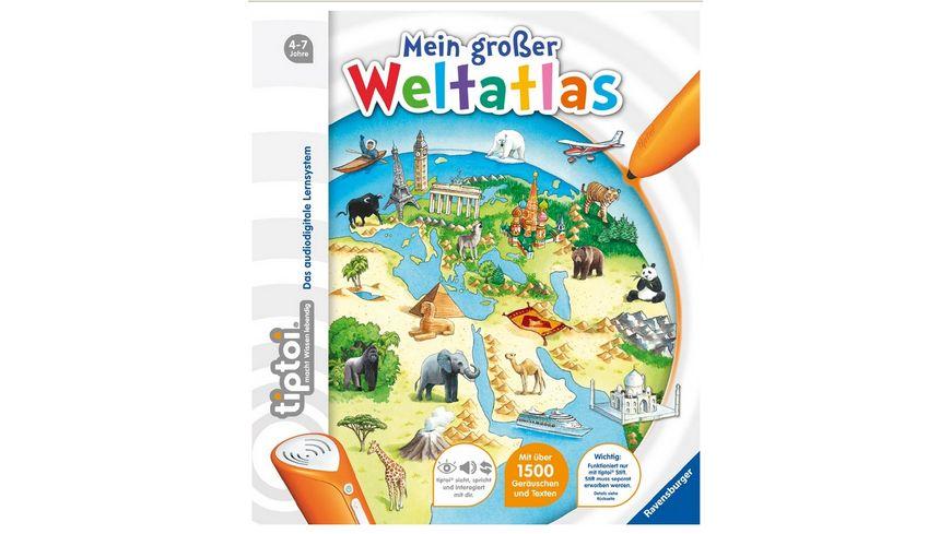 Ravensburger tiptoi Kindersachbuch Mein grosser Weltatlas