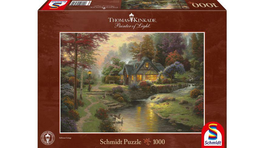 Schmidt Spiele Erwachsenenpuzzle Thomas Kinkade Friedliche Abendstimmung 1000 Teile