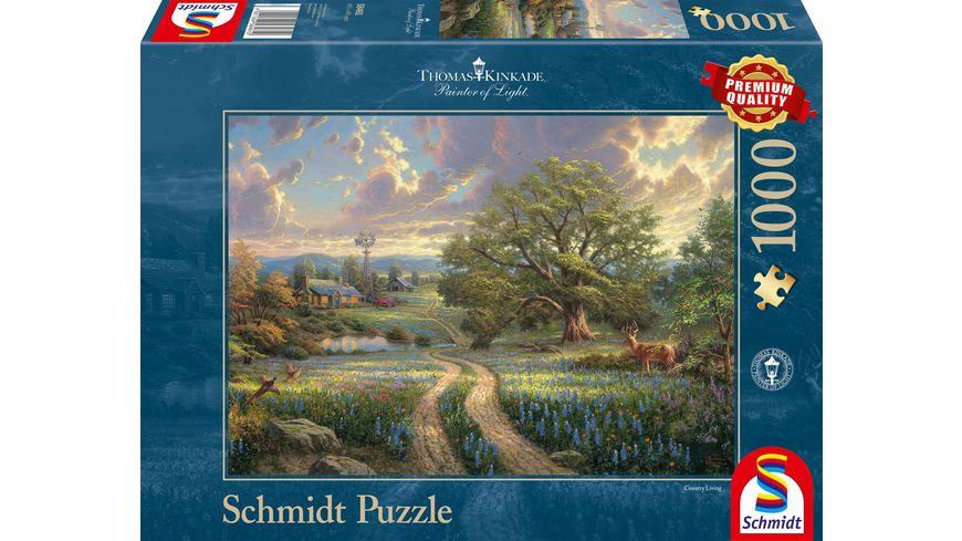 Schmidt Spiele Erwachsenenpuzzle Thomas Kinkade Country Living 1000 Teile