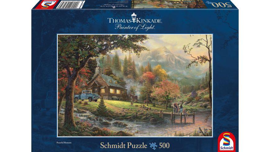 Schmidt Spiele Erwachsenenpuzzle Thomas Kinkade Idylle am Fluss 500 Teile