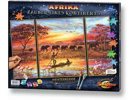 Schipper Malen nach Zahlen Motiv Gruppe Triptychon Afrika Zauber eines Kontinents