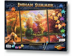 Schipper Malen nach Zahlen Motiv Gruppe Triptychon Indian Summer