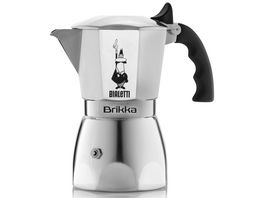 BIALETTI Espressokocher Brikka mit Cremaventil 2 Tassen