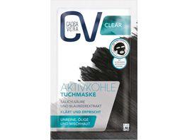 CV CLEAR Aktivkohle Tuchmaske