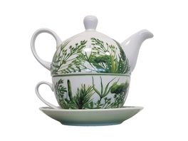 Tee Set Tea for One 4 teilig Kraeuter