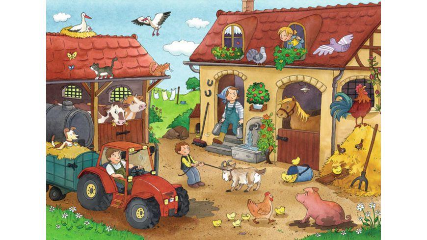 Ravensburger Puzzle Fleissig auf dem Bauernhof 2x12 Teile