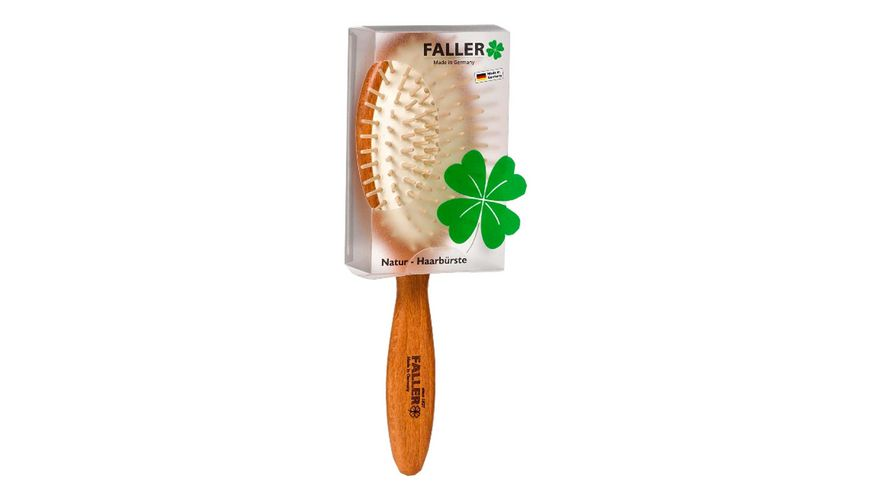 FALLER Haarbuerste Buche oval gross Holzstifte ohne Noppen