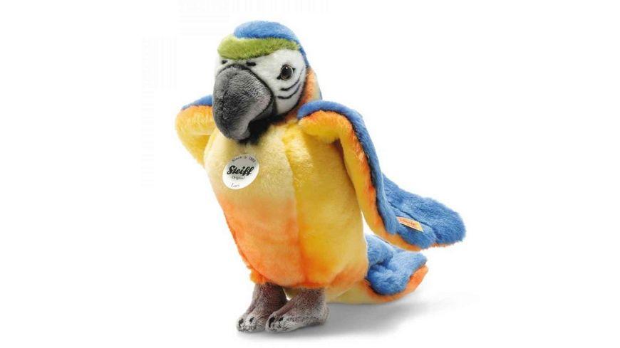 Steiff Kuscheltiere Wildtiere National Geographic Lori Papagei Blau gleb 26 cm