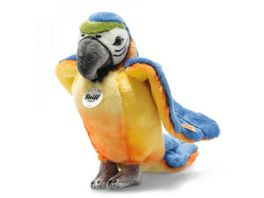 Steiff Kuscheltiere Wildtiere Lori Papagei blau gelb 26cm