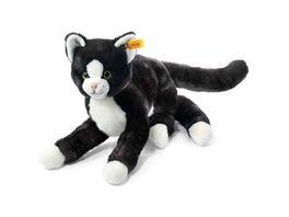 Steiff Mimmi Schlenker Katze 30 schwarz weiss