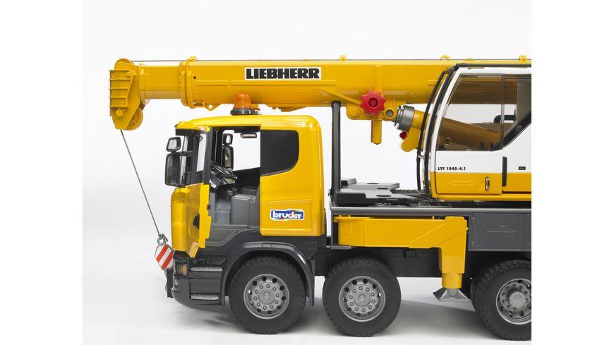 BRUDER Scania R Serie Liebherr Kran LKW mit Light Sound Modul 03570