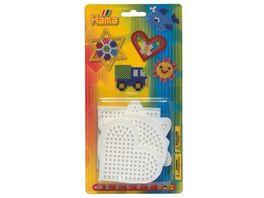 Hama Blister mit 5 Stiftplatten kleines Quadrat kleiner Kreis kleines Sechseck kleines