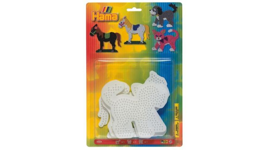 Hama Blister mit 3 Stiftplatten Hund Katze Pferd