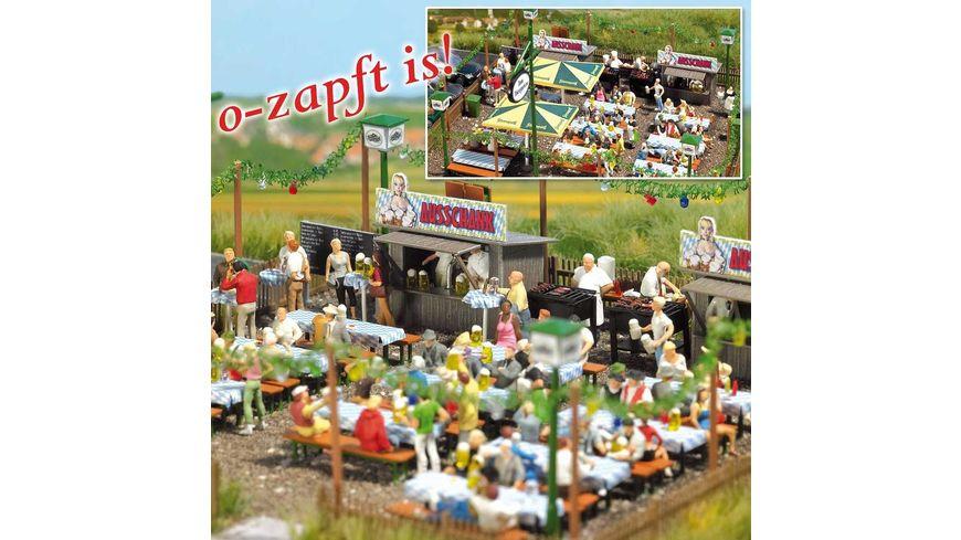 Busch 1046 Modellbahnzubehoer Biergarten