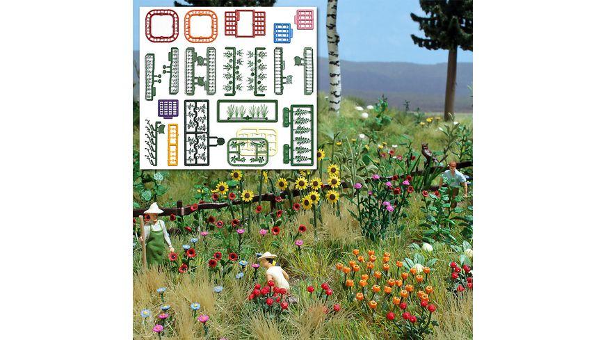 BUSCH 1258 H0 Natur Pur Blumen und Pflanzen Set