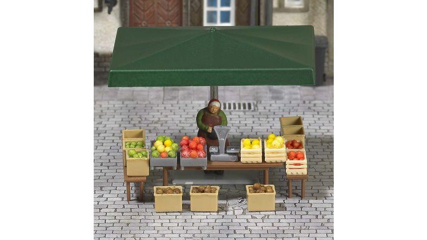 BUSCH 7706 H0 Mini Welt Marktstand Obst Gemuese