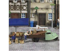 BUSCH 7707 H0 Mini Welt Marktstand Kartoffeln