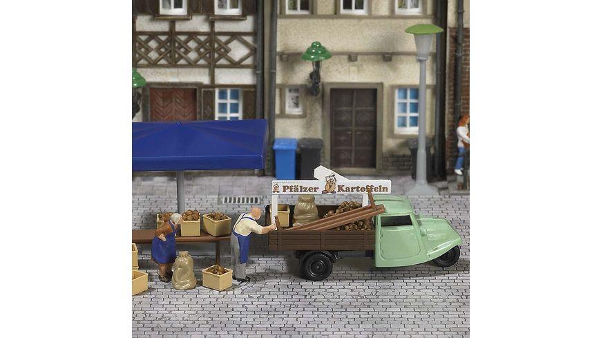 Busch 7707 Modellbahnzubehoer Mini Welt Marktstand Kartoffeln