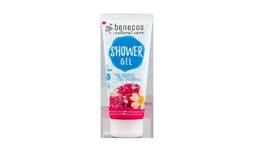BENECOS Natural Shower Gel Granatapfel Rose