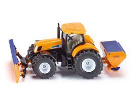 SIKU 2940 Farmer Traktor mit Raeumschild und Salzstreuer