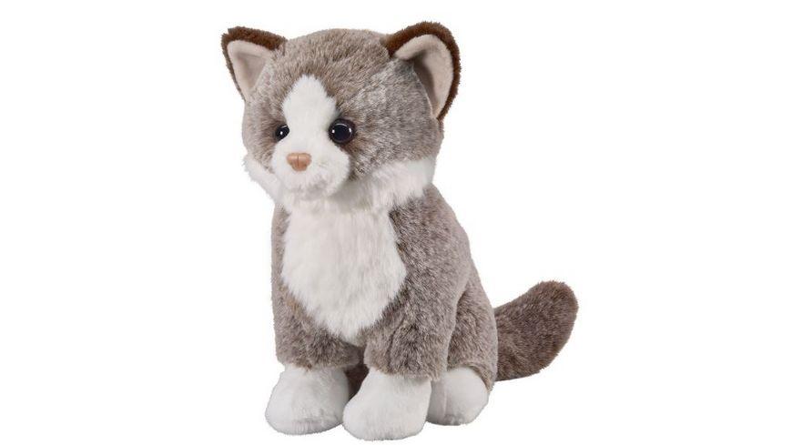 Bauer Deine Tiere mit Herz Katze dunkelbraun 25cm sitzend