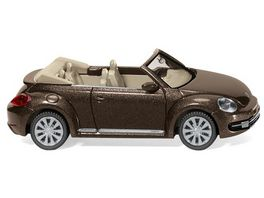 WIKING 0028 02 VW The Beetle Cabrio toffeebraun metallic 1 87