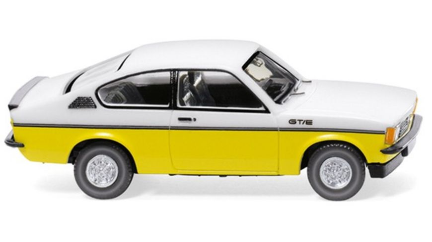 WIKING 022902 Opel Kadett C Coupe GT E weiss gelb 1 87