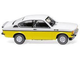 WIKING 0229 02 Opel Kadett C Coupe GT E weiss gelb 1 87