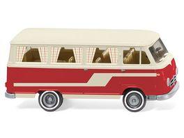 Wiking 0270 45 Borgward Campingbus B611 perlweiss rot 1 87