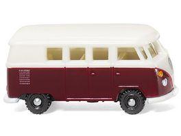 Wiking 0932 02 VW T1 Bus weinrot weiss 1 160