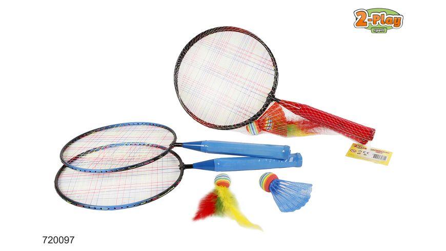 Van Manen Badminton Set 2 Schlaeger 2 Baelle